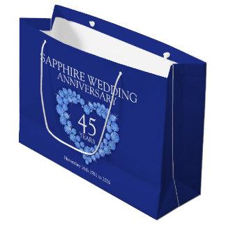 45th sapphire wedding anniversary photo gift bag