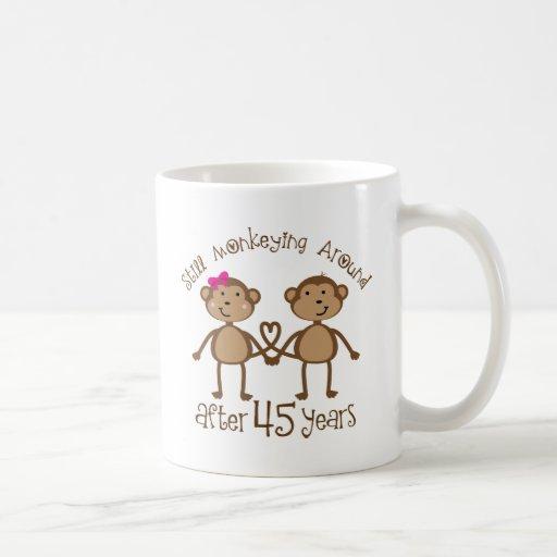 Wedding Gifts For 45th Anniversary : 45th Wedding Anniversary Gifts Classic White Coffee Mug Zazzle