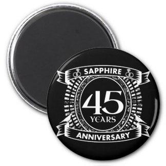 45th wedding anniversary sapphire crest magnet