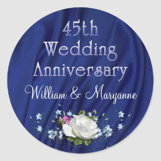 45th White Rose Anniversary Party Stickers