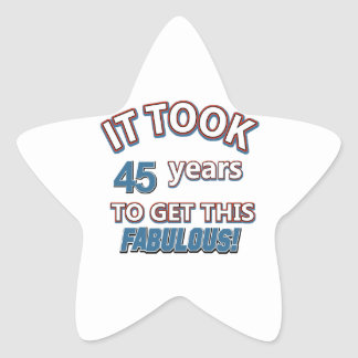 45th year birthday designs sticker