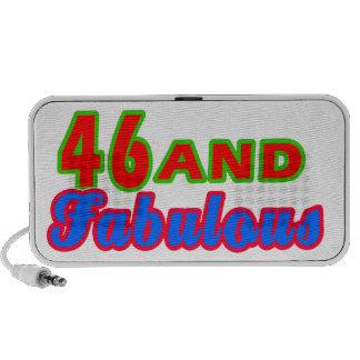 46 and Fabulous Birthday Designs Mini Speakers