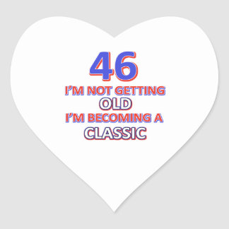46 birthday designs heart sticker