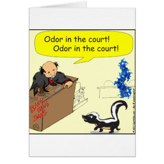 471 odor in the court Cartoon Card