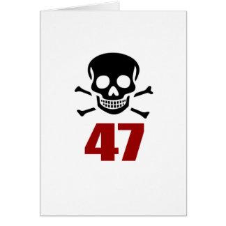 47 Birthday Designs Card
