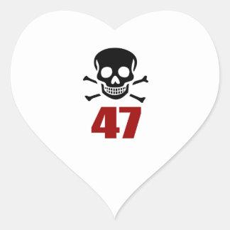 47 Birthday Designs Heart Sticker