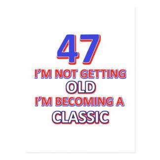 47 birthday designs postcard