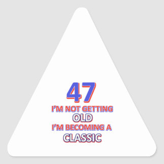 47 birthday designs triangle sticker