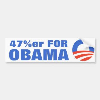 47 Percent For Obama 2012 Bumper Sticker