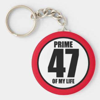 47 - prime of my life key ring