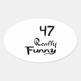 47 Really Funny Birthday Designs Oval Sticker