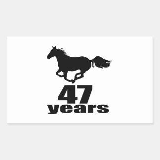 47 Years Birthday Designs Rectangular Sticker
