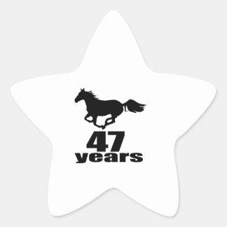 47 Years Birthday Designs Star Sticker