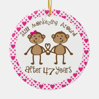 47th Anniversary Gift Ornament