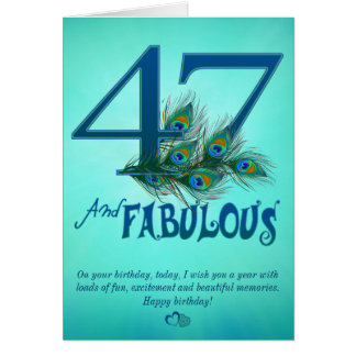 47th Birthday template Cards