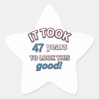 47th year birthday designs stickers
