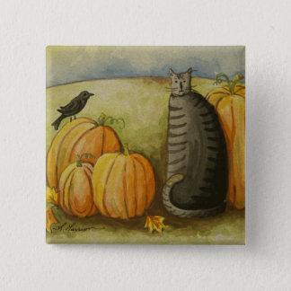 4874 Harvest Cat Button