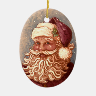 4884 Santa Claus Christmas Ceramic Ornament