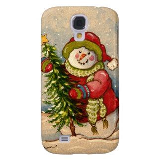 4889 Snowman Christmas Samsung Galaxy S4 Cover