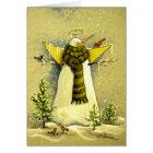 4894 Snow Angel & Birds Birthday Card