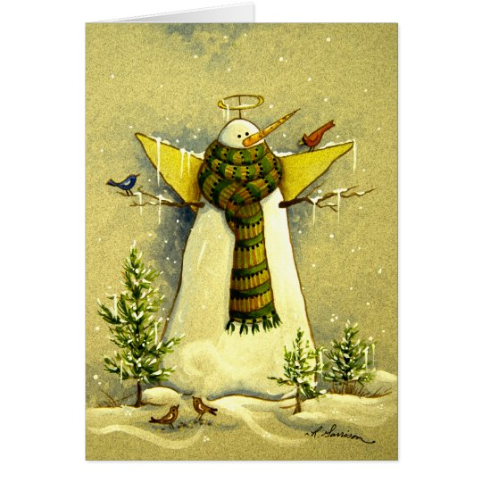 4894 Snow Angel & Birds Christmas Card
