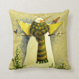 4894 Snow Angel & Birds Christmas Cushion