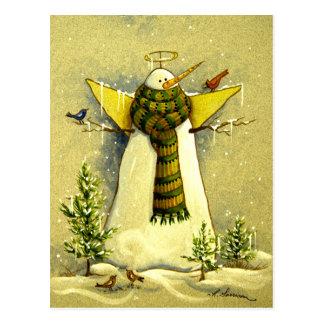 4894 Snow Angel & Birds Christmas Postcard