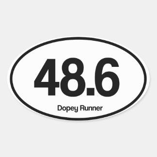 48.6 Dopey Runner Oval Sticker
