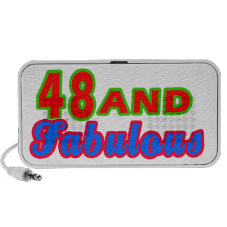 48 and Fabulous Birthday Designs Mp3 Speakers