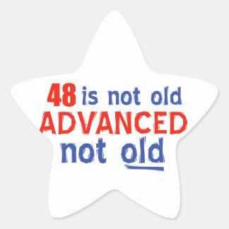 48 years Old birthday designs Star Sticker
