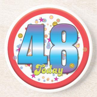48th Birthday Today v2 Coaster