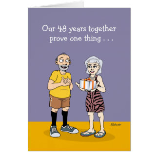 48th Wedding Anniversary Card: Love Card