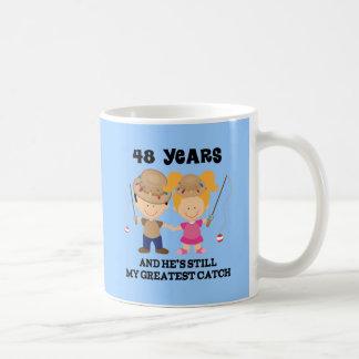 48th Wedding Anniversary Gift For Her Coffee Mug