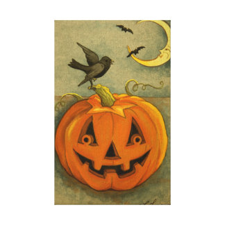 4900 Halloween Wrapped Canvas Print