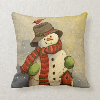 4905 Snowman & Birdhouse Christmas Cushion