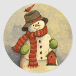 4905 Snowman & Birdhouse Christmas Stickers