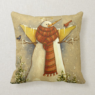 4907 Snow Angel & Birds Christmas Cushion
