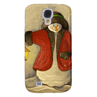 4910 Snowman & Lantern Christmas Galaxy S4 Case