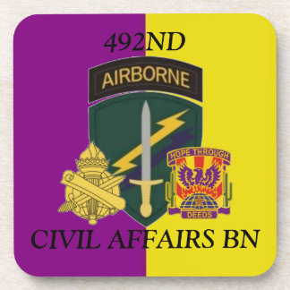 492ND CIVIL AFFAIRS BATTALION DRINK COASTERS