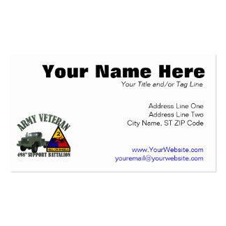498th Support Pack Of Standard Business Cards