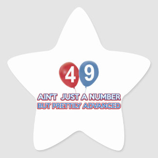 49 aint just a number star sticker