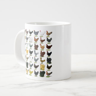 49 Chicken Hens Large Coffee Mug