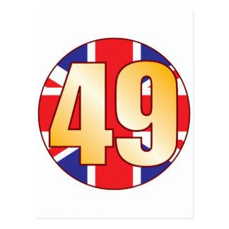 49 UK Gold Postcard