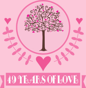 c344a2a4 49th Anniversary Love Tree Throw PIllow