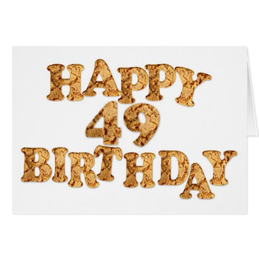 49th Birthday card for a cookie lover