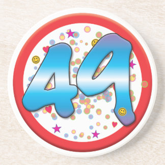 49th Birthday Coasters