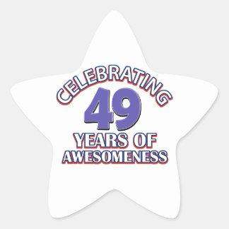49th birthday designs stickers
