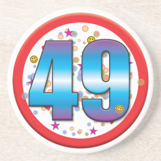 49th Birthday v2 Drink Coasters