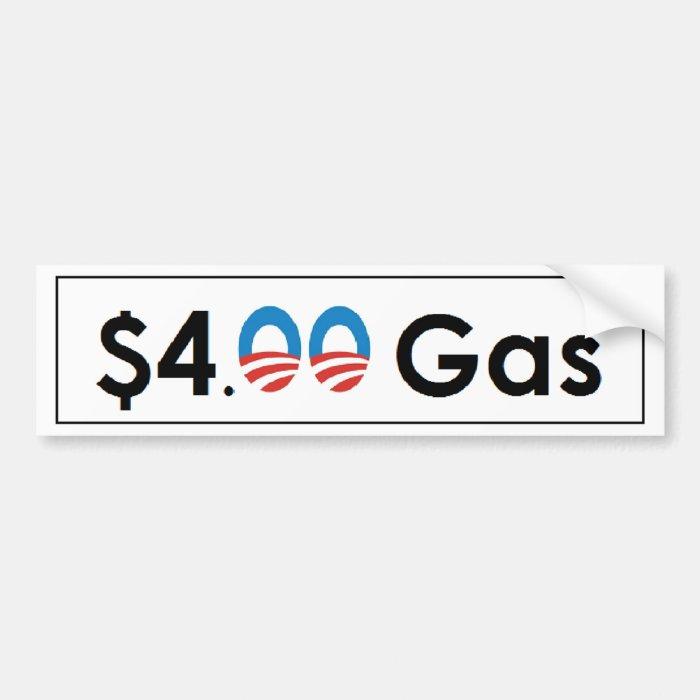 $4.00 Obama Gas Bumper Sticker