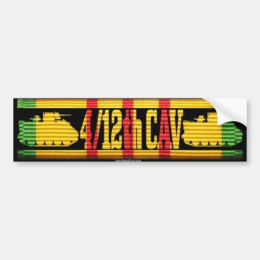 4/12th Cav ACAV Tracks Bumper Sticker